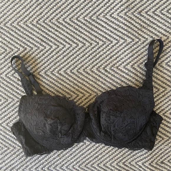 Victoria's Secret Lace Black Bra Size 36B
